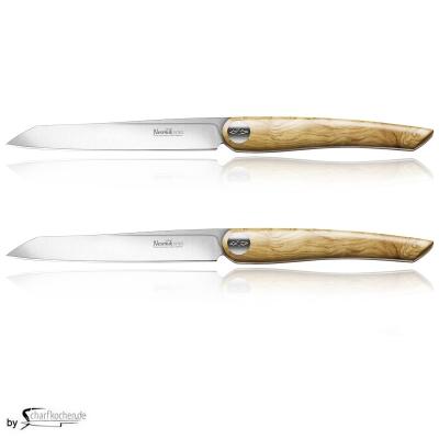Nesmuk Soul Steak- und Tafelmesser - 2er Set / Griff: Olive