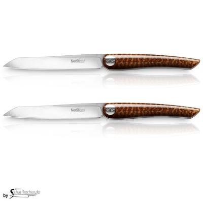 Nesmuk Soul Steak- und Tafelmesser - 2er Set / Griff: Schlangenholz