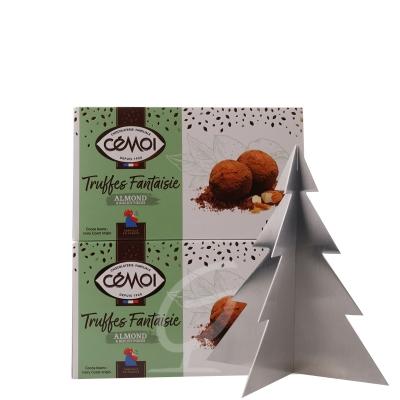 Schokoladentrüffel Truffes Fantaisie Almond Cemoi 2 Stck. (neue Verpackung)  inkl. Edelstahl Baum