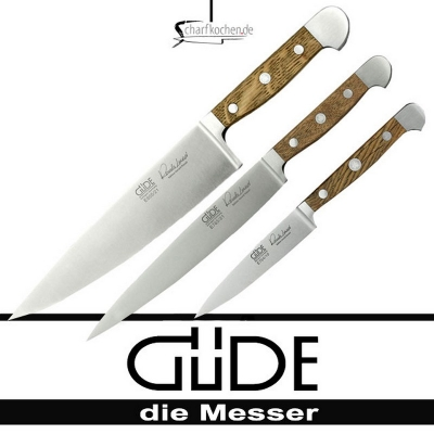 Güde Messer Alpha Fasseiche Kochmesserset 3 tlg. 3-E000