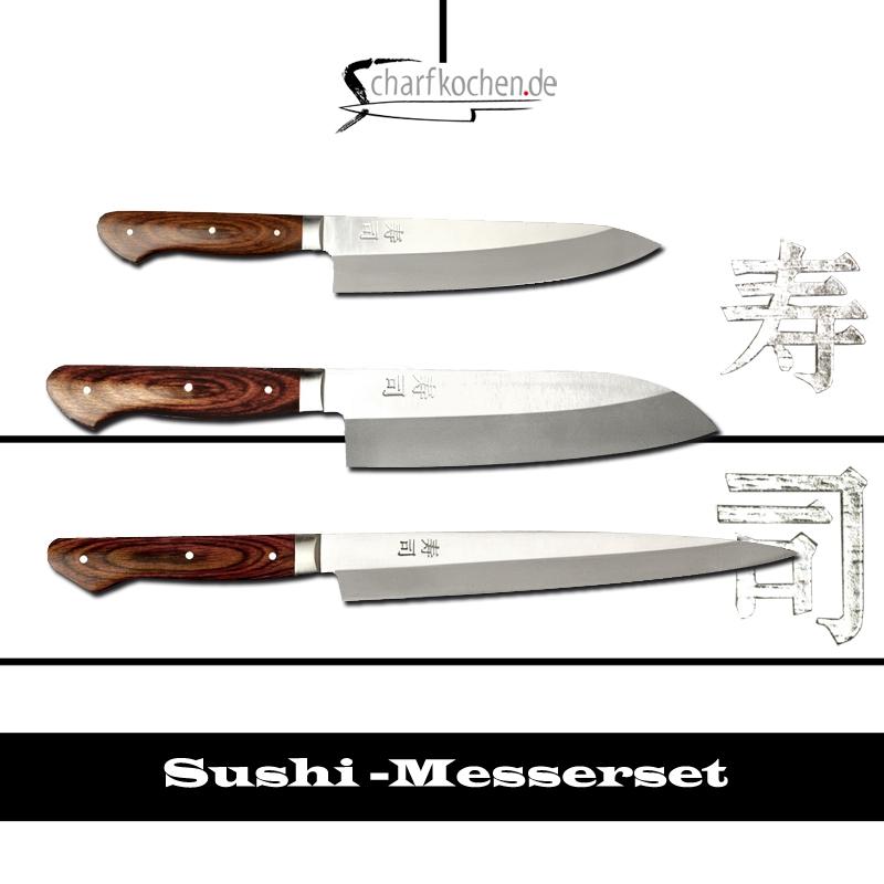 Kochmesserset 3-teilig Sushi