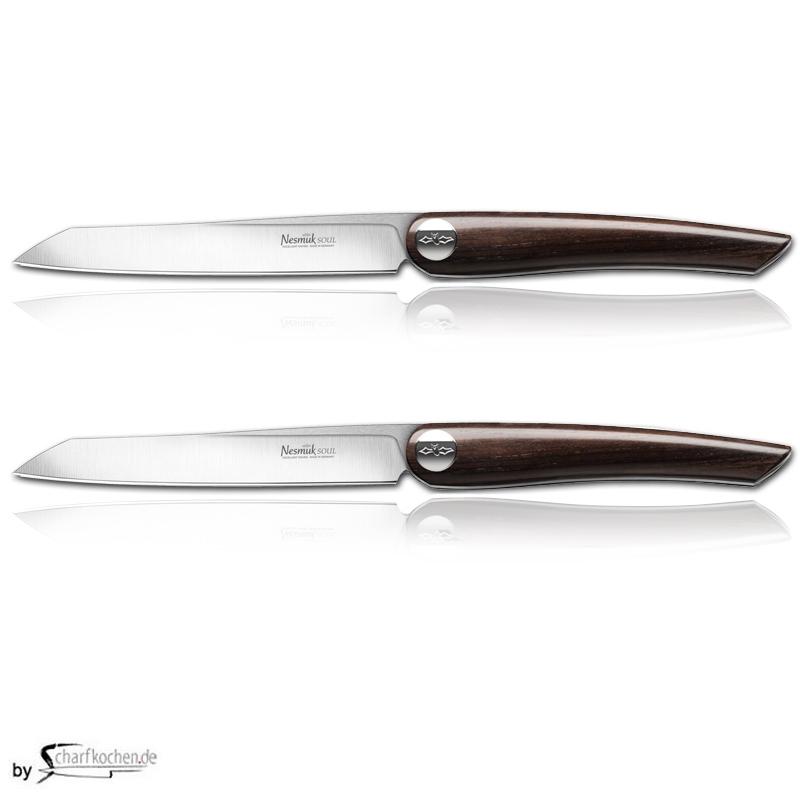 Nesmuk Soul Steak- und Tafelmesser - 2er Set / Griff: Grenadill