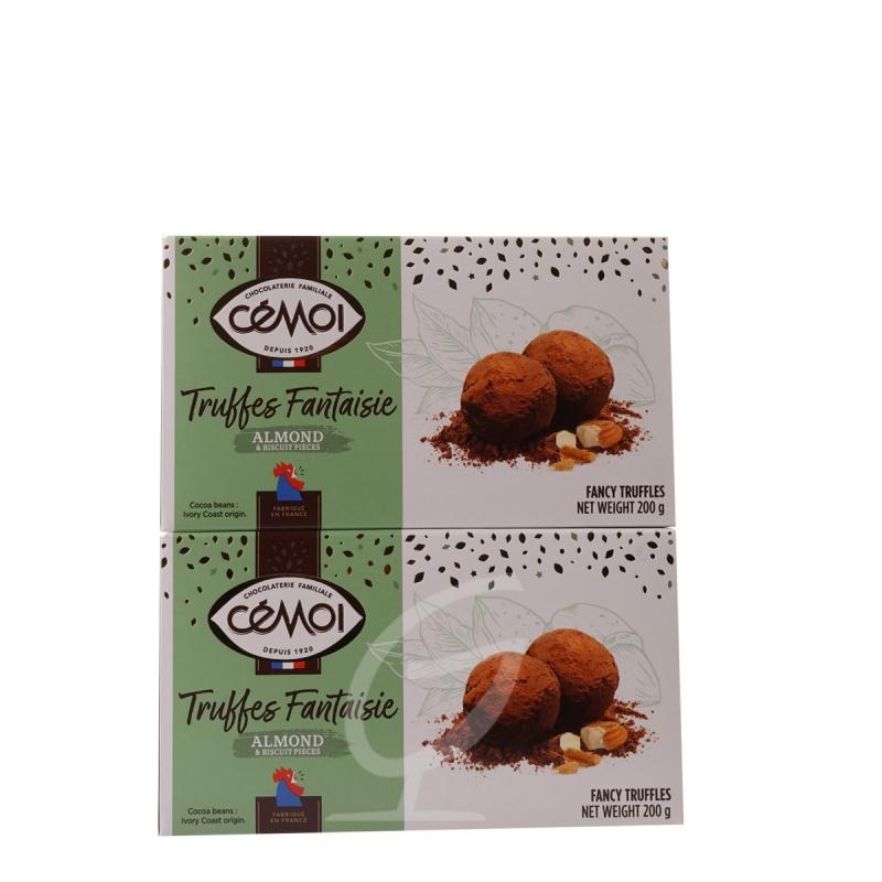 Schokoladentrüffel Truffes Fantaisie Almond Cemoi 2 Packungen (neue Verpackung)