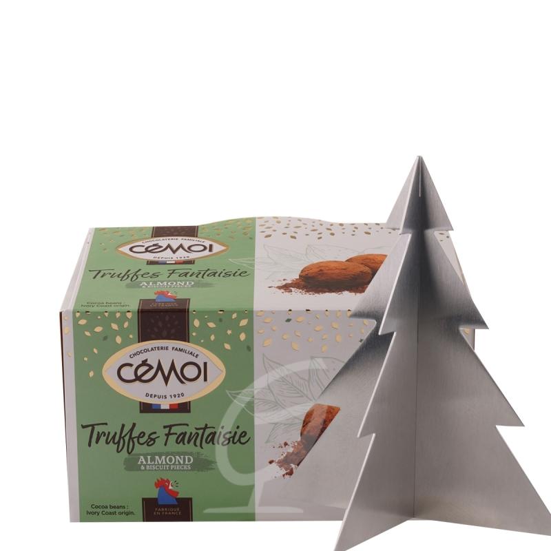 Schokoladentrüffel Truffes Fantaisie Almond Cemoi (neue Verpackung) inkl. Edelstahlbaum