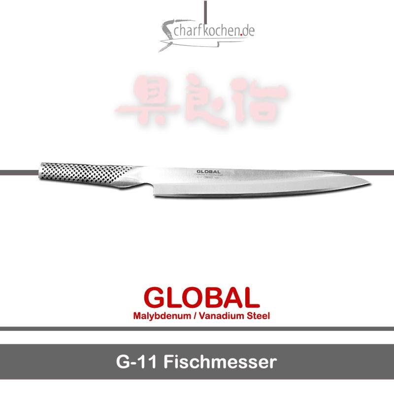 Global Messer: G-11L Großes Fischmesser mit Sashimi-Schliff