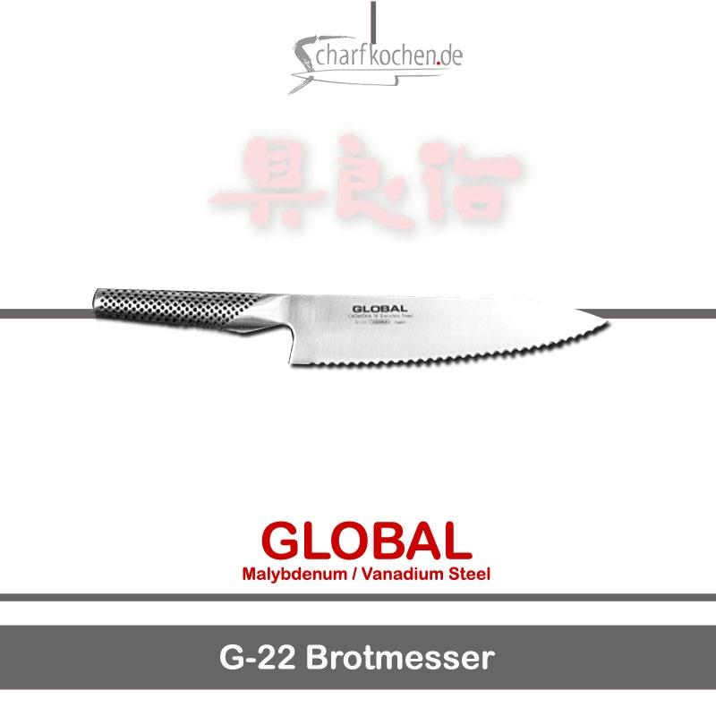 Global Messer: G-22 Brotmesser für Krustiges