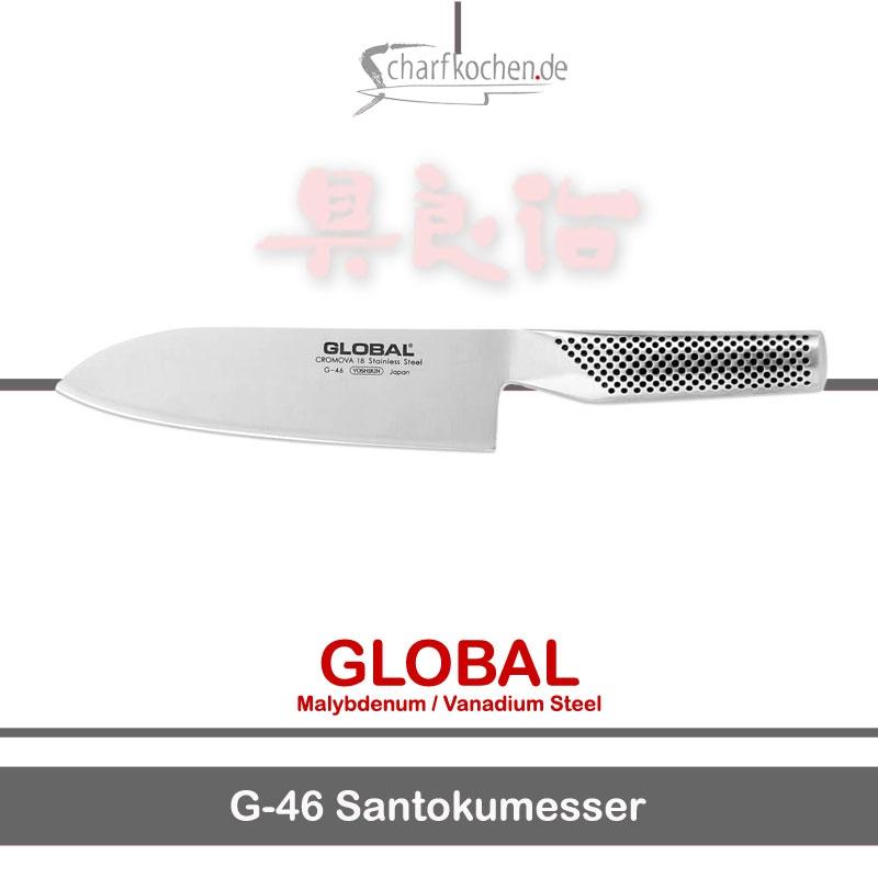 Global Messer: G-46 Santokumesser, das japanische Kochmesser