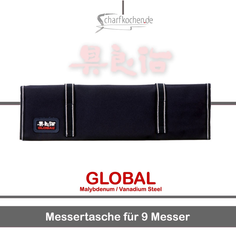 Global Messer: G-666/09 Messertasche für 9 Messer