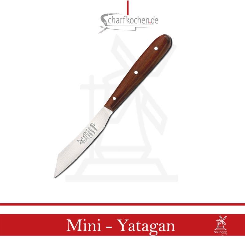 Yatagan Küchen-Obstmesser Windmühle-nicht Rostfrei-,Griff aus Kirschholz