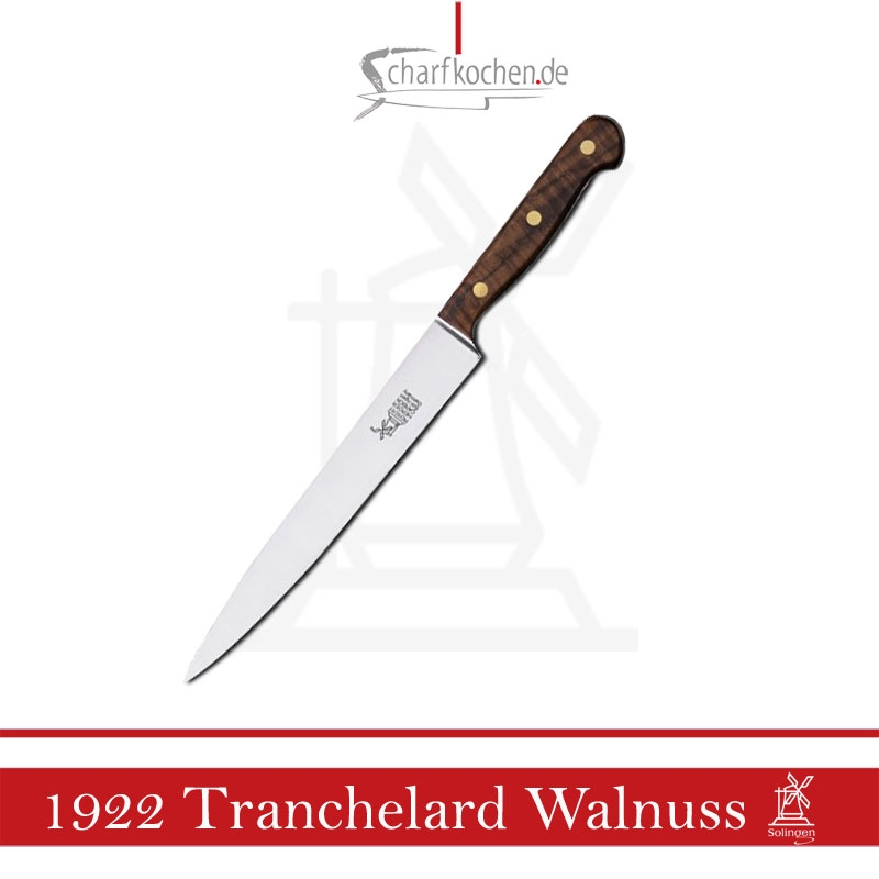 Tranchelard Windmühle Modell a.d.Jahr 1922, nicht rostfrei Griff: Walnuss