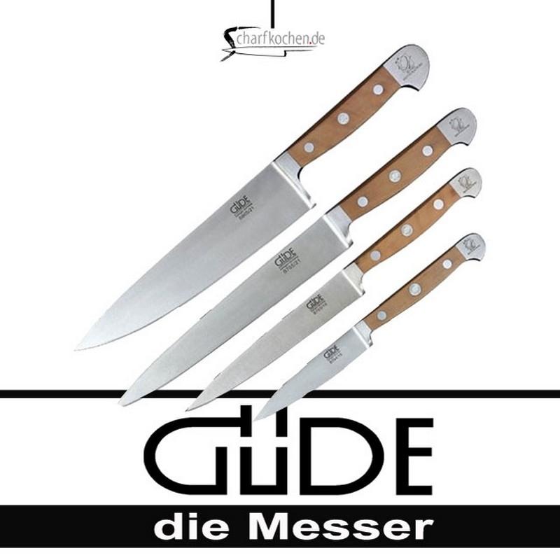 Güde Kochmesser Alpha Birne Kochmesser Set 4 tlg.