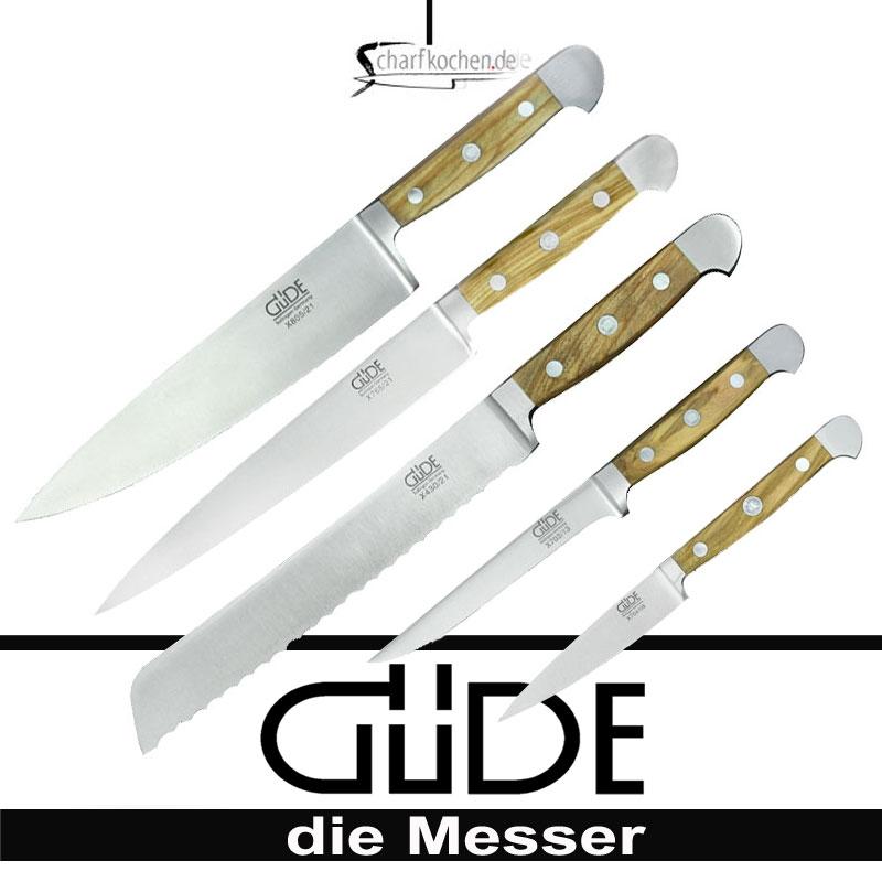 Güdemesser-Alpha Olive Messerset 5tlg
