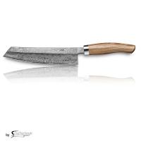 Nesmuk C100 Voll Damastmesser / Griff: Bahia Rosenholz inkl. Tödlich gut Kochbuch