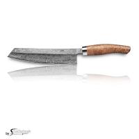 Nesmuk C100 Voll Damastmesser / Griff: Eukalyptus Maser inkl. Tödlich gut Kochbuch