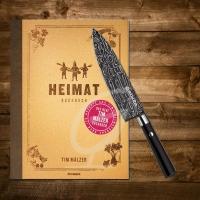 Tim Mälzer Kochbuch: Heimat inkl. Böker Damast Kochmesser