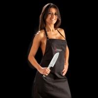 ScharfKochen-Latzschürze Cuisine schwarz