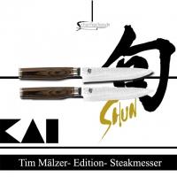 KAI  TDMS-400 Steakmesser Set 2 teilig Shun Premier
