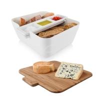 Bread & Dip Brotdose - Tomorrow`s Kitchen, Kunststoff/Bambus weiß
