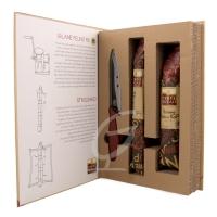Geschenkset Salami mit Messer in einer orignellen Verpackung
