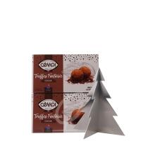 Schokoladentrüffel Truffes Fantaisie Cemoi 2 Packungen (neue Verpackung)  inkl. Edelstahl Baum