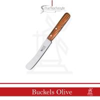 Frühstücksmesser Buckels Windmühle Griff: Olivenholz