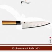 H-15 CHROMA Haiku Kochmesser 20 cm, Kullenschliff
