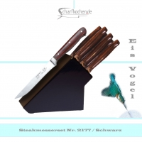 Messerblock mit 6 Steakmessern -schwarz-
