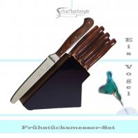 Messerblock mit 6 Frühstücksmessern -schwarz-