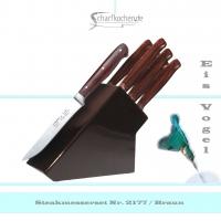 Messerblock mit 6 Steakmessern -braun-