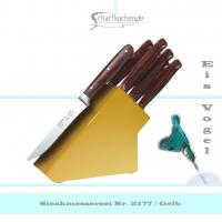 Messerblock mit 6 Steakmessern -gelb-