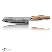 Nesmuk EXKLUSIV C150 Damast mit Schneidlage/ Griff: Bahia Rosenholz inkl. Tödlich gut Kochbuch