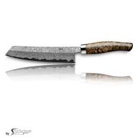 Nesmuk EXKLUSIV C150 Damast mit Schneidlage/Griff: karelische Maserbirke